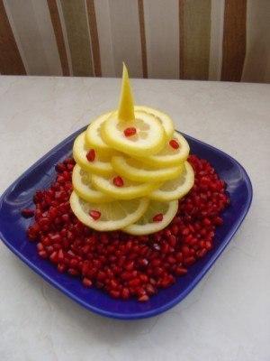 елочка из лимона