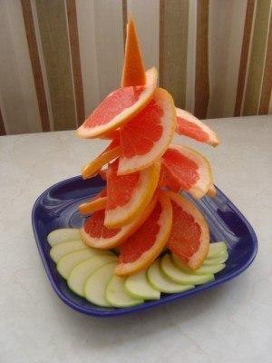 елочка из грейпфрута