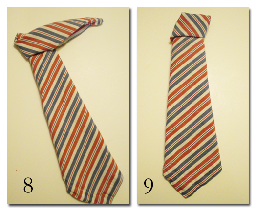 Как сложить салфетку в виде галстука