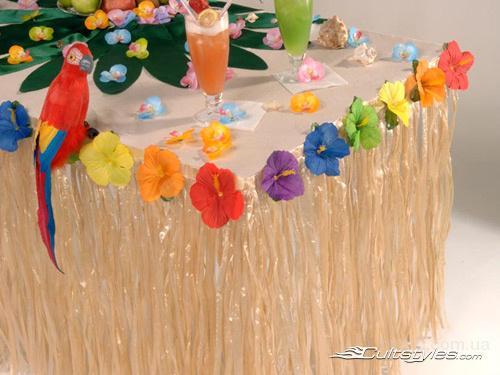 девичник в стиле гавайской вечеринки