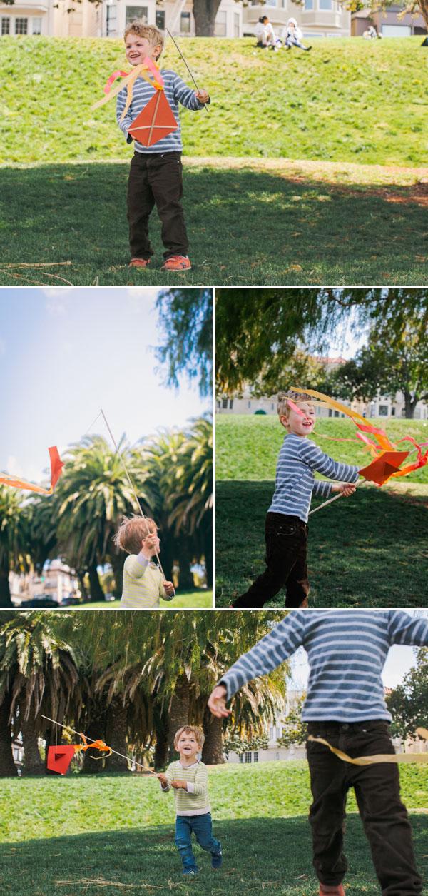 Детский праздник с воздушным змеем