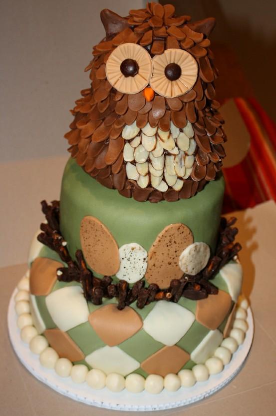 Торты с совами на 1 День Рождения