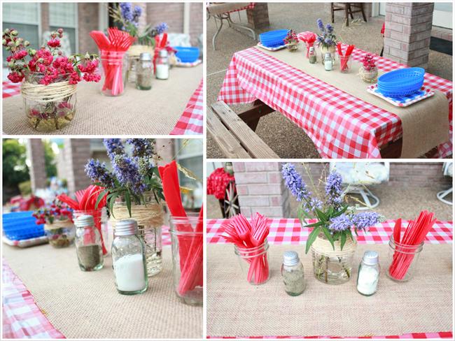 как украсить стол на пикнике