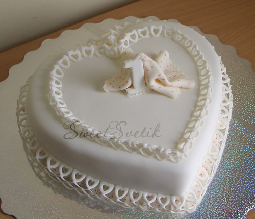 торты на первую годовщину свадьбы