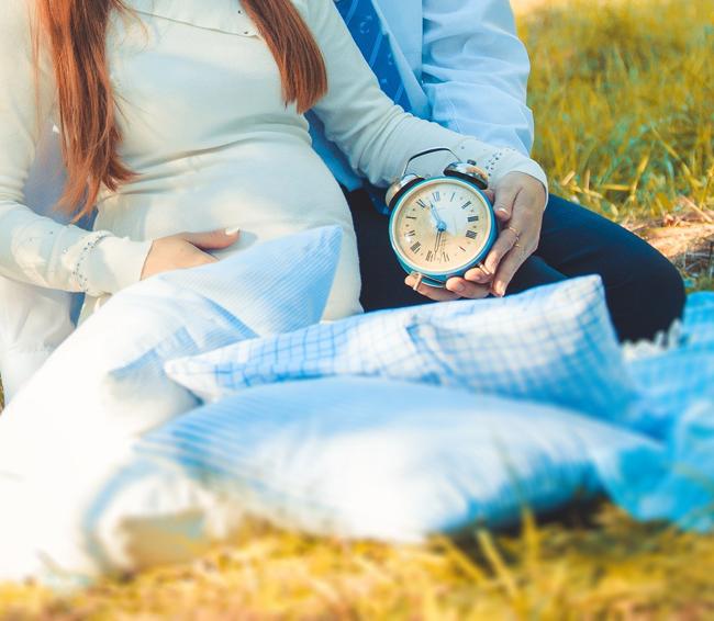 Трогательная фотосессия будущей мамы