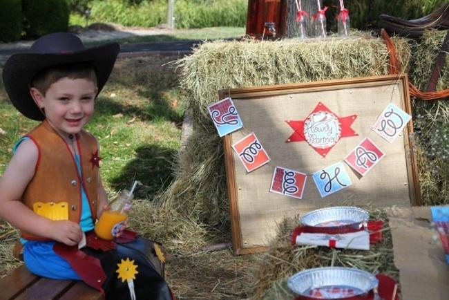 детский ковбойский праздник