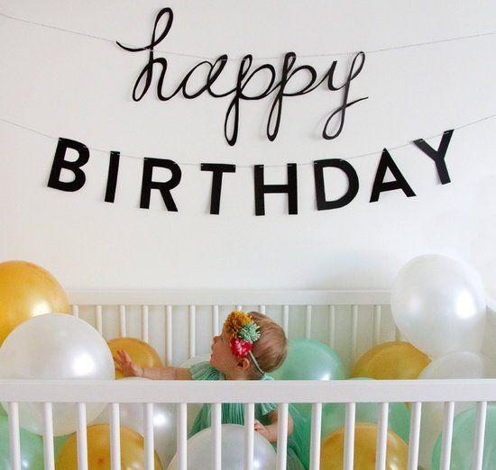 первый день рождения дочери
