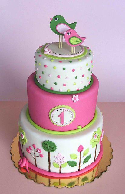 торт девочке на 1 год