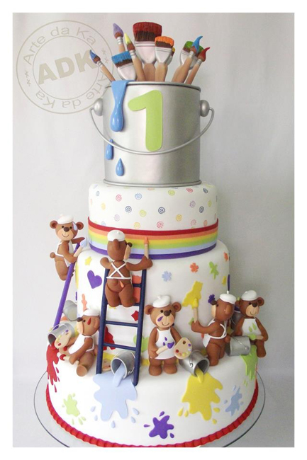 украшение торта на 1 год