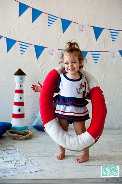 детская фотосессия в морском стиле