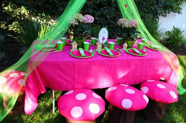 детский день рождения оформление стола