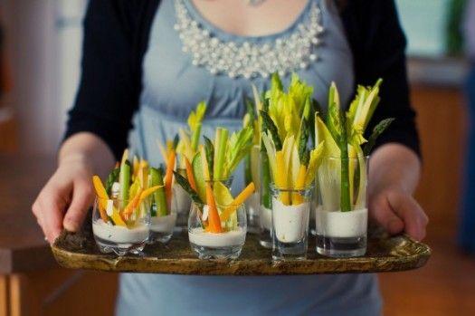 красивое оформление овощной нарезки