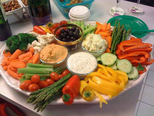 как украсить овощную нарезку