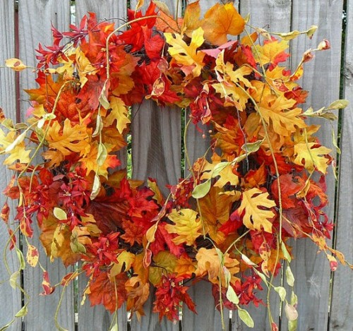 Осенние веночки на дверь