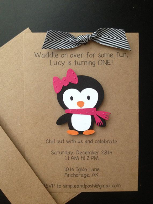 Детский праздник в стиле пингвинов