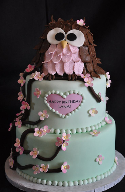 торт на годик девочке