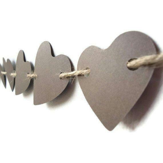 гирлянда из сердечек своими руками