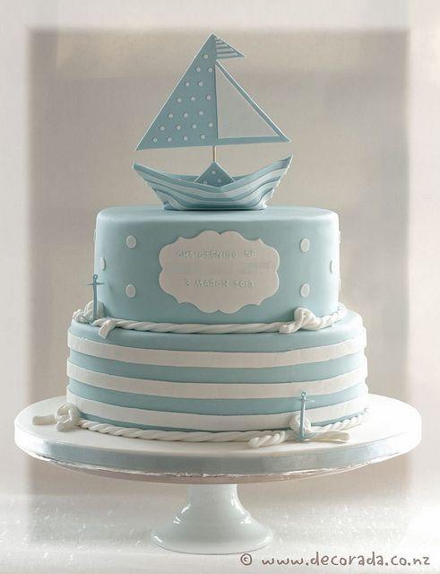 торт на крещение мальчика