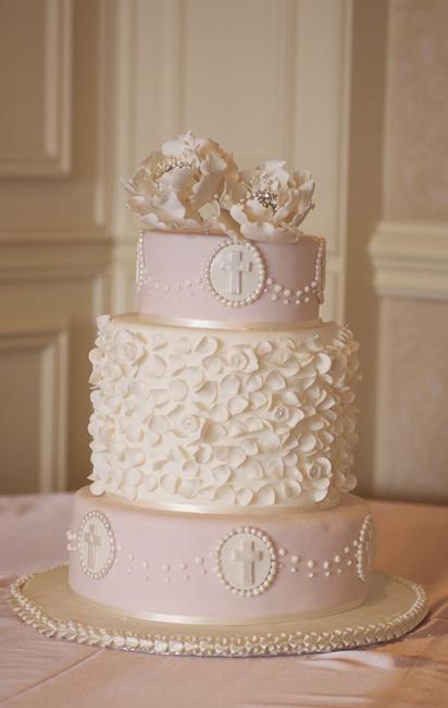 торт на крестины девочки