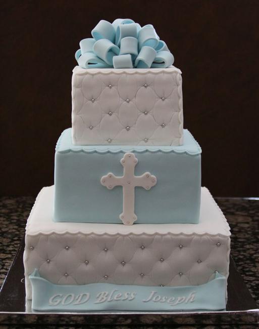торт на крестины мальчика