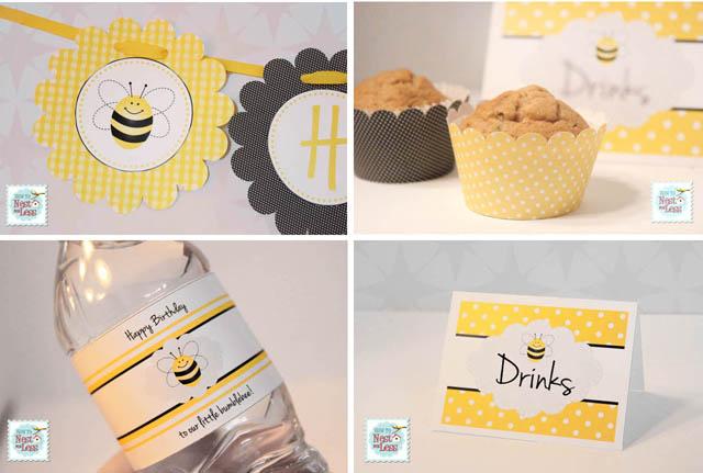 Шаблоны декора для Пчелиного Дня рождения