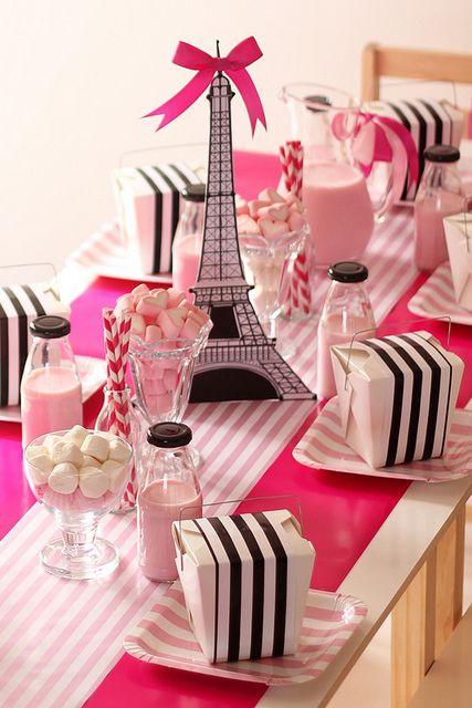 День рождения девочки в стиле Париж