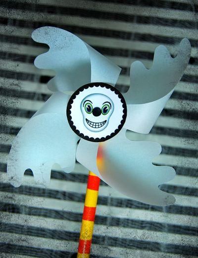 Шаблоны бумажных вертушек на Хэллоуин