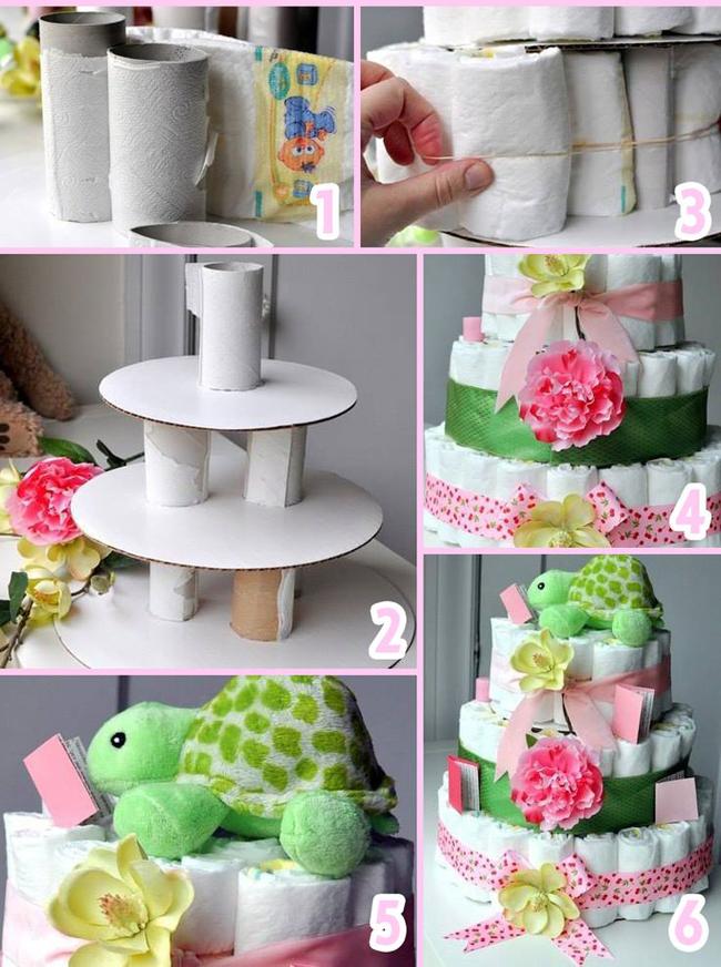Торт из памперсов и другие подарки