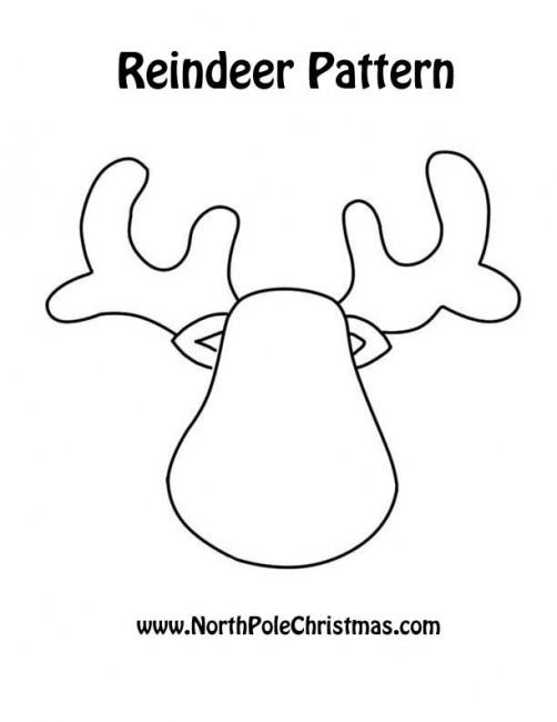 Шаблоны новогоднего оленя