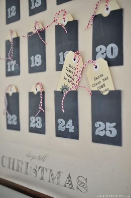 адвент календарь своими руками на новый год