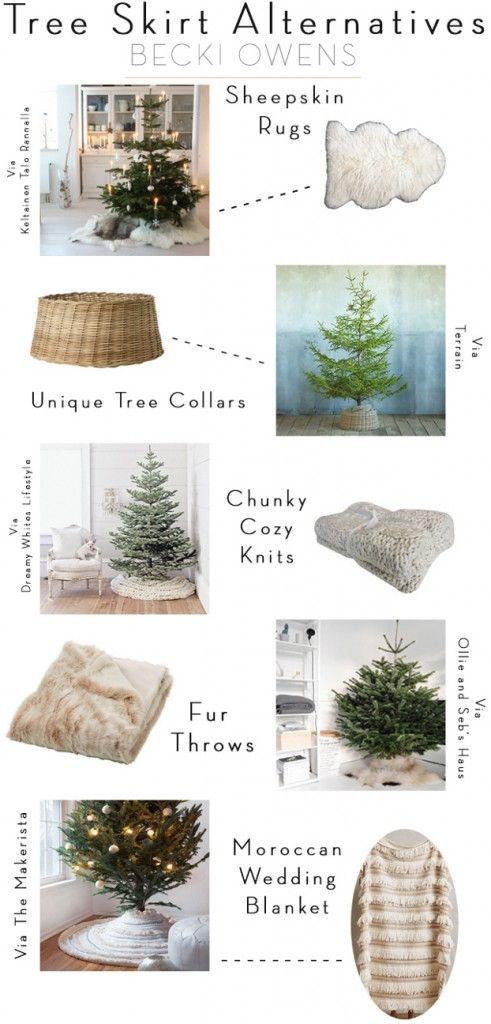 Как украсить низ елки